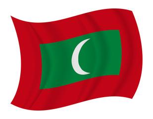 Maldives flag waving vector