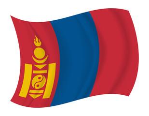 Mongolia flag waving vector