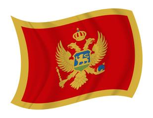 Montenegro flag waving vector