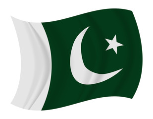 Pakistan flag waving vector