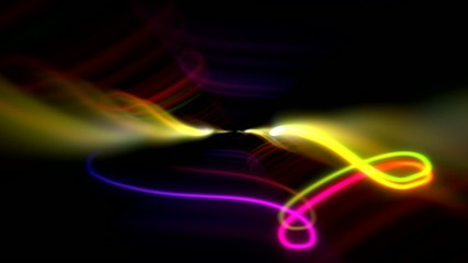 Glowing scribble scroll squiggles abstract background loop