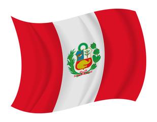 Peru flag waving vector