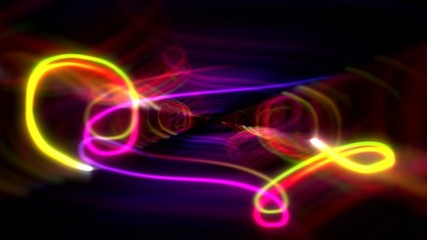 Glowing scribble scroll squiggles abstract background 2 loop