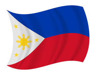 Philippines flag waving vector