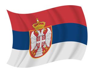 Serbia flag waving vector