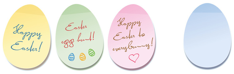 Happy Easter Egg Self Stick Notes