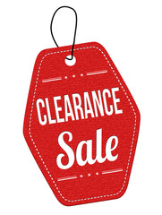Clearance sale label or price tag