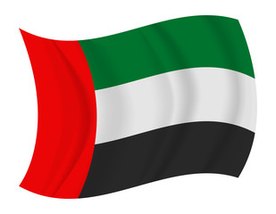 United Arab Emirates flag waving vector