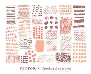 Set creative freehand textures.