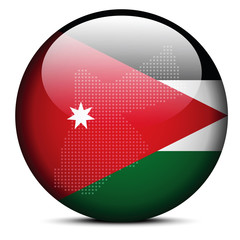 Map with Dot Pattern on flag button of Jordan