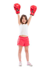 Young boxer girl champion