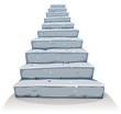 Cartoon Stone Stairs - 79295074