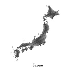 Japan map icon for your design