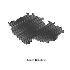 Czech Republic map icon for your design