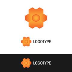 Abstract flower shape logo