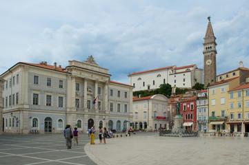 Tartiniplatz,Piran, Slowenien