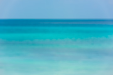 Blur background of ocean, view from the water