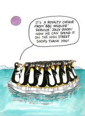 Cartoon gag about penguins