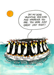 Cartoon about penguins' resemblance