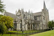 Leinwanddruck Bild - View of Saint Patrick cathedral in Dublin, Ireland, cloudy day