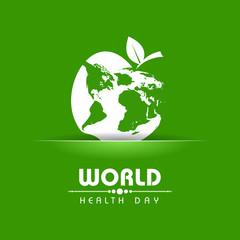 Creative World Health Day Greeting stock vector