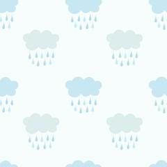 Rain clouds pattern