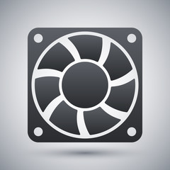 Vector computer cooling fan icon