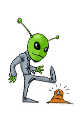 Aliens on a white background. Vector illustration