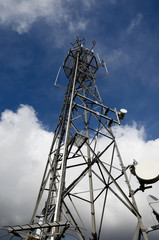 telecommunications send and receive tower