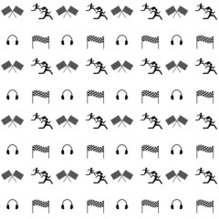 Seamless vector pattern. Sports competition and fitness.