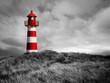 Leinwanddruck Bild - Rot-Weißer Leuchtturm