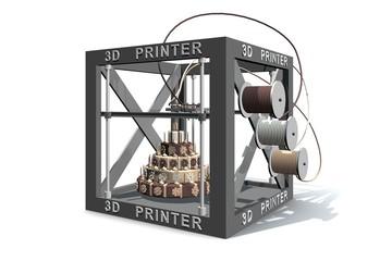 Eten uit de 3D printer - een taart