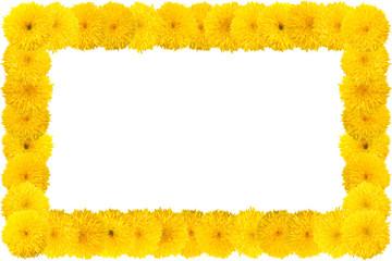 Decorative sunflower frame