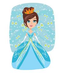 Illustration of cute little princess