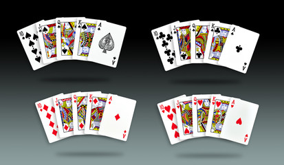 Royal Straight Flush 4 set