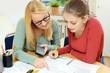 Leinwanddruck Bild - Nachhilfe in Mathematik mit Nachhilfelehrer