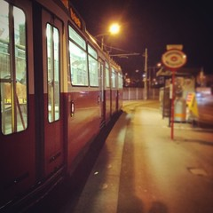 A Tram Station in the good old Vienna
