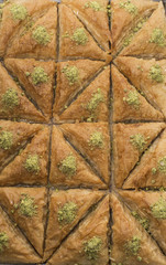 Just out from owen a big plate of baklava