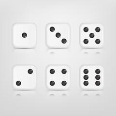 Set of white dices