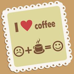 I love coffee. Retro vector icon