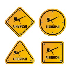 airbrush signs - road signs
