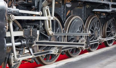 Lokomotivräder im Verkehrshaus