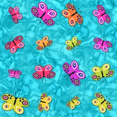 Seamless decorative butterflies pattern