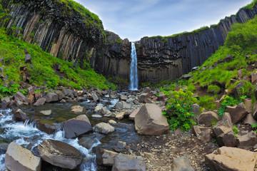 Magnificent waterfall Svartifoss