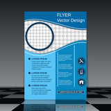 Flyer vector template