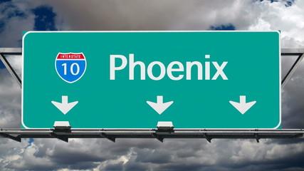 Phoenix Interstate 10 Freeway Sign Time Lapse