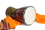 ethnic drum isolated on white background