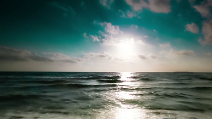 Summer sea and sky. Slow motion