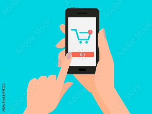 Buy. On-line order in shopping - 79311211