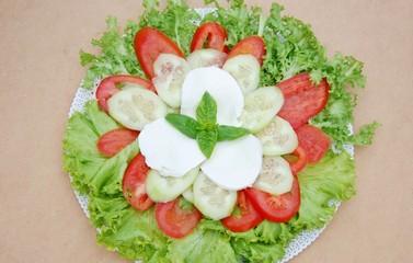 vegetarian dish,mixed salad